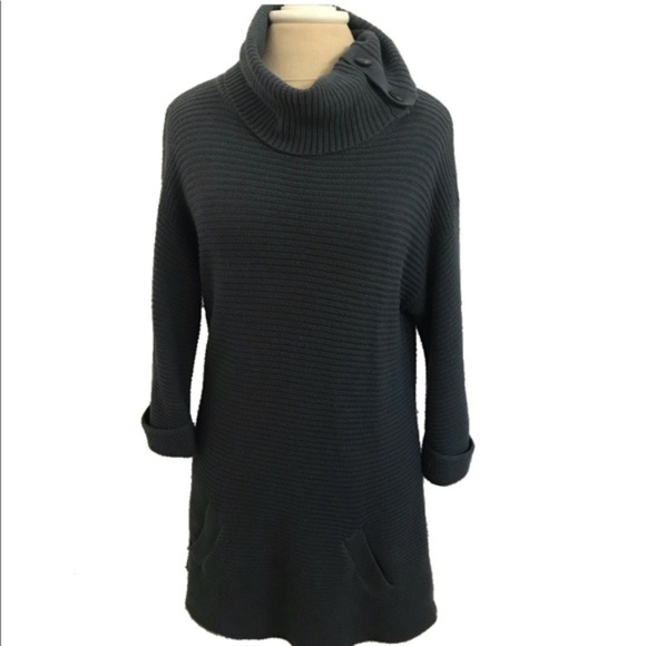 Ann Taylor Dresses & Skirts - Ann Taylor Dress Blue Cowl Neck Knit Sweater Dress